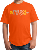 Youth Orange Cross Country: I've Got The Runs - Distance Runner Cross Country T-shirt