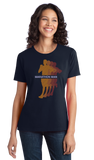 Ladies Navy Marathon Man - Long Distance Runner Marathon 26.2 miles ironman T-shirt