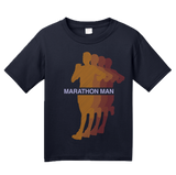 Youth Navy Marathon Man - Long Distance Runner Marathon 26.2 miles ironman T-shirt