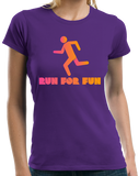 Ladies Purple Cross Country: Run For Fun! - Distance Running Runner XC T-shirt