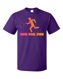 Standard Purple Cross Country: Run For Fun! - Distance Running Runner XC T-shirt