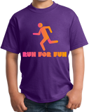 Youth Purple Cross Country: Run For Fun! - Distance Running Runner XC T-shirt