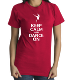 Standard Red Keep Calm And Dance On T-shirt