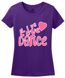 Ladies Purple Live Love Dance - Dancer Dance Lover Love To Gift Fun Cute T-shirt