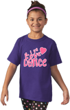 Youth Purple Live Love Dance - Dancer Dance Lover Love To Gift Fun Cute T-shirt
