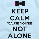 Darren Criss Keep Calm 'Cause You Are Not Alone Light blue art preview