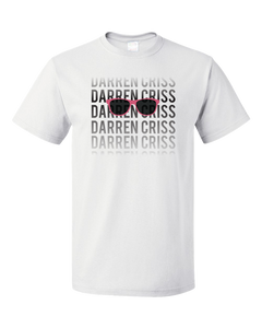 Standard White Darren Criss Fading Name T-shirt