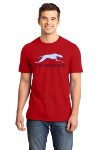 Standard Red My Kid Is Faster Than Your Kid - Dog Parent Greyhound Lover Cute T-shirt
