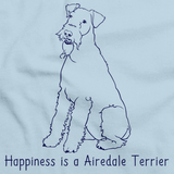 HAPPINESS IS A AIREDALE TERRIER Light blue art preview