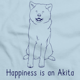 HAPPINESS IS A AKITA Light blue art preview