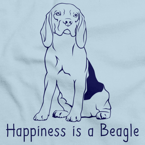 HAPPINESS IS A BEAGLE Light blue art preview