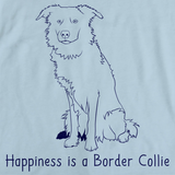 HAPPINESS IS A BORDER COLLIE Light blue art preview