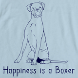 HAPPINESS IS A BOXER Light blue art preview