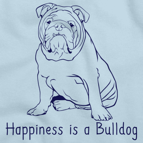 HAPPINESS IS A BULLDOG Light blue art preview