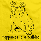 HAPPINESS IS A BULLDOG Yellow art preview