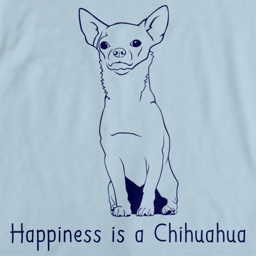 HAPPINESS IS A CHIHUAHUA Light blue art preview