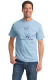 Standard Light Blue Happiness is a Chihuahua - Chihuahua Lover Small DogCute T-shirt