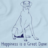 Happiness is a Great Dane Light blue art preview