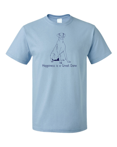 Standard Light Blue Happiness is a Great Dane - Great Dane Dog Lover Cute T-shirt