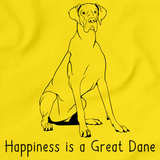 Happiness is a Great Dane Yellow art preview