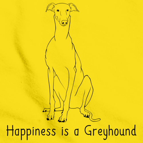 HAPPINESS IS A GREYHOUND Yellow art preview