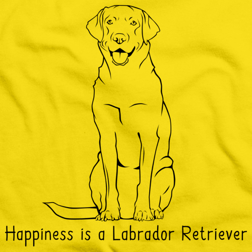 HAPPINESS IS A LABRADOR RETRIEVER Yellow art preview