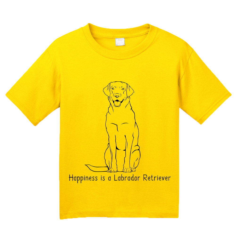 Youth Yellow Happiness is a Labrador Retriever - Labrador Dog Lover Gift T-shirt