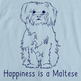 Happiness is a Maltese Light blue art preview