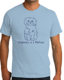 Standard Light Blue Happiness is a Maltese - Maltese Dog Lover Cute Gift Breed T-shirt