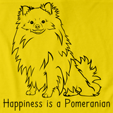 HAPPINESS IS A POMERANIAN Yellow art preview