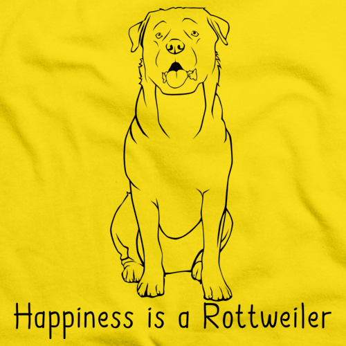 HAPPINESS IS A ROTTWEILER Yellow art preview