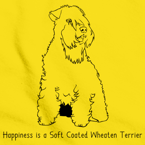 HAPPINESS IS A SOFT COATED WHEATEN TERRIER Yellow art preview
