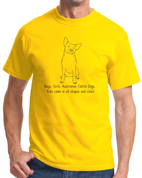 Standard Yellow Boys, Girls, & Australian Cattle Dogs = Kids - Cattle Dog Lover T-shirt