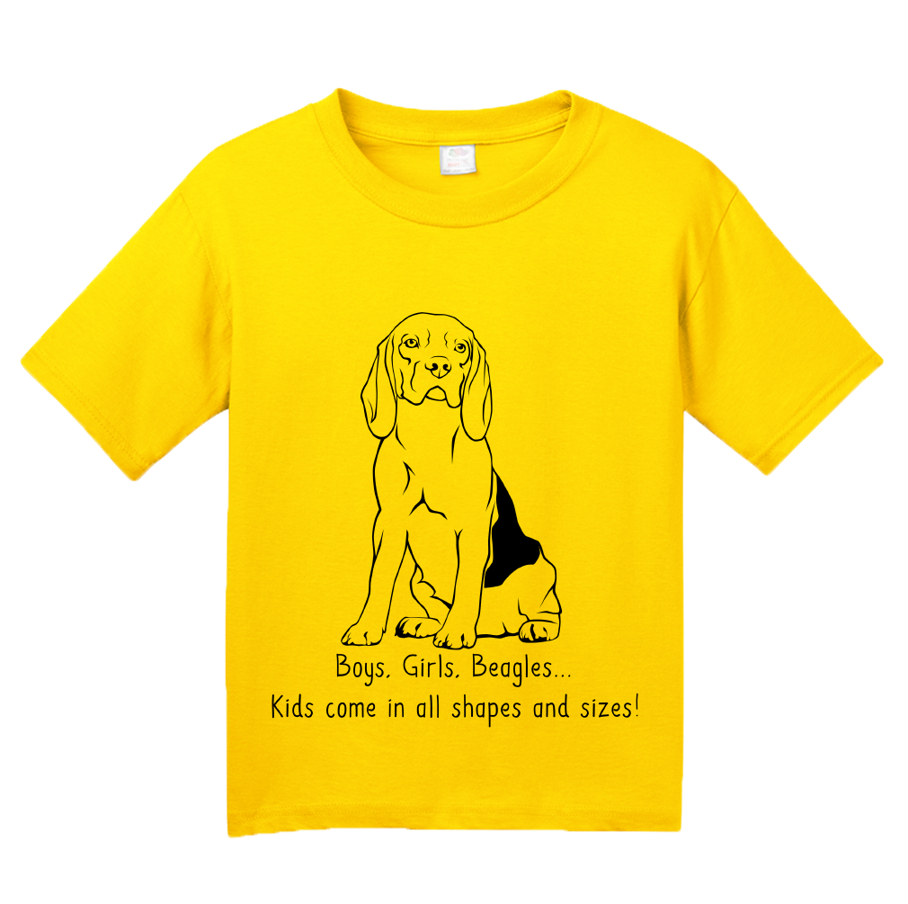 Youth Yellow Boys, Girls, & Beagles - Beagle Parents Dog Lover Kids Funny T-shirt