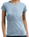 Ladies Light Blue Boys, Girls, & Bichon Frises = Kids - Bichon Frises Parent Owner T-shirt