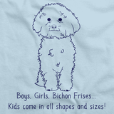 BOYS, GIRLS, & BICHON FRISES = KIDS Light blue art preview