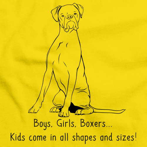 BOYS, GIRLS, & BOXERS Yellow art preview