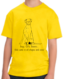 Youth Yellow Boys, Girls, & Boxers = Kids - Boxers Dog Parents Lover Gift Pet T-shirt