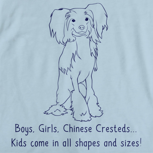 BOYS, GIRLS, & CHINESE CRESTEDS = KIDS Light blue art preview