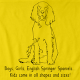 BOYS, GIRLS, & ENGLISH SPRINGER SPANIELS = KIDS Yellow art preview
