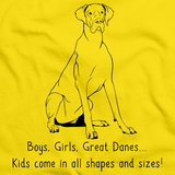 Boys, Girls, & Great Danes = Kids Yellow art preview