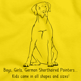 BOYS, GIRLS, & GERMAN SHORTHAIRED POINTERS Yellow art preview