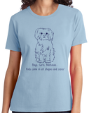 Ladies Light Blue Boys, Girls, & Malteses = Kids - Maltese Lover Parent Dog Owner