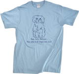 Unisex Light Blue Boys, Girls, & Malteses = Kids - Maltese Lover Parent Dog Owner