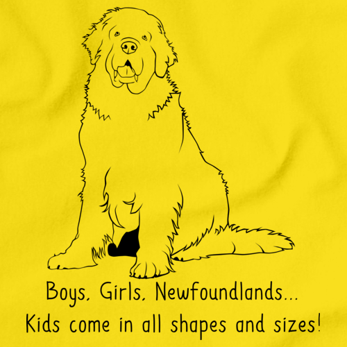 BOYS, GIRLS, & NEWFOUNDLANDS = KIDS Yellow Art Preview