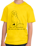 Youth Yellow Boys, Girls, & Newfoundlands = Kids - Newfie Newfoundland Lover T-shirt