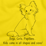 BOYS, GIRLS, & PAPILLONS = KIDS Yellow Art Preview