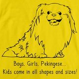 BOYS, GIRLS, & PEKINGESES = KIDS Yellow Art Preview