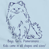 BOYS, GIRLS, & POMERANIANS Light blue Art Preview