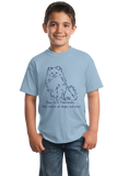Youth Light Blue Boys, Girls, & Pomeranians = Kids - Pomeranian Boo Cute Parent T-shirt